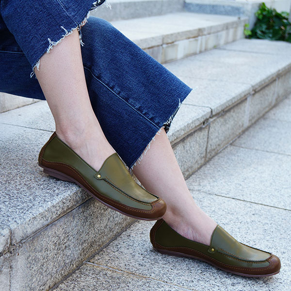 【在庫限り10%OFFセール】モカシン ソフトSoft Moccasin Casual ShoesNo.A0540 【22.5〜25.5cm】【幅広特注/Wider Order】【CSF】